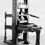 Hand press printer